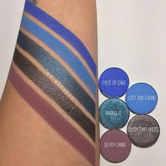 First set of swatches from the upcoming @colourpopcosmetics Pressed Powder launch. There are 25 single shadows so i'll be doing 5 at a time throughout tomorrow. I'm going to aim at having everything posted before tomorrow's launch which is at 10am PST! These shadows will retail $5 each and if you buy 4, you get a free empty palette to hold them in.