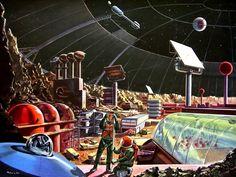 Retro Space Station Depiction