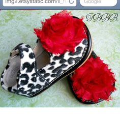 How cute are these!  http://www.etsy.com/listing/90888960/cow-print-toddler-leather-squeaky-mary?ref=sr_gallery_12=_search_submit=_search_query=Cow+print_order=most_relevant_ship_to=US_view_type=gallery_search_type=handmade_facet=handmade