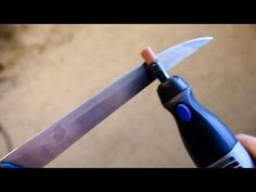 Sharpen kitchen knife with Dremel Rotary Tool - Grinding Stone #932 - YouTube