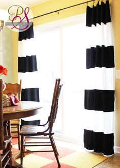 Positively Splendid {Crafts, Sewing, Recipes and Home Decor}: How to Make Striped Drapes
