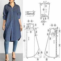 Dress Sewing Patterns, Sewing Patterns Free, Clothing Patterns, Sewing Clothes Women, Diy Clothes, Clothes For Women, Barbie Clothes, Fashion Sewing, Diy Fashion