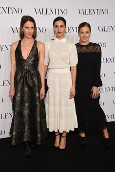 (L-R) Vanessa Traina, Samantha Traina, and Victora Traina attend the Valentino Sala Bianca 945 Event on December 10, 2014 in New York City.