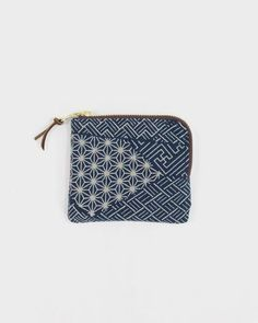 Check out these unique products by Kirikomade in Portland! Zipper Wallet, Indigo Multipattern