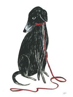 Hallie Bateman I Dog Illustration, Art Graphique, Grafik Design, Dog Art, Art Inspo, Bunt, Painting & Drawing, Design Art, Logo Design