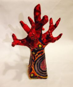 "This is a ""jewelry tree"", for hanging bracelets and rings! Hand made decoupage done by Lenita, at the ""Workshop for family, friends & fun, and a well appreciated gift to her dear friend!     http://workshop4fff.com/"