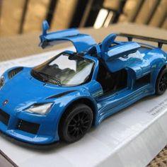 Mainan Murah Diecast Miniatur Mobil Gumpert Apolo Sport Biru - Kinsmart 1:32