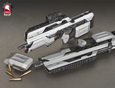 Ascend Assault Rifle, Kris Thaler on ArtStation at http://www.artstation.com/artwork/ascend-assault-rifle