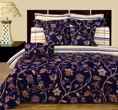 California-King Size Lilian Reversible Bedding Set, Duvet Cover Set, Matching Fitted Sheet and decortive shams, by Royal Hotel 100 Cotton Duvet Covers, Cotton Bedding Sets, Duvet Sets, Duvet Cover Sets, Beautiful Bedding Sets, Egyptian Cotton Bedding, Bed In A Bag, Aleta, Bed Sheet Sets