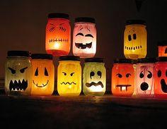 halloween painted jar luminaries @ crafts by amanda