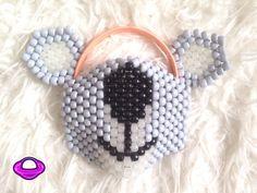 Koala Mask and Ears Kandi Set Koala Kandi Mask Kandi Koala Ears Kandi Ears EDM Rave Gear Neon Rave Wear Koala Accessories EDC