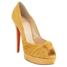 Christian Louboutin Best Greissimo Peach Suede Pumps-#138