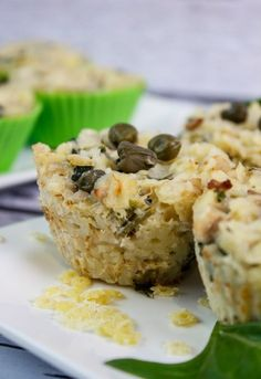 Gluten-free dish that is super easy to prepare and super tasty. Savory muffins with tuna, capers and cream sauce. Gluten Free Pasta, Lactose Free, Gluten Free Recipes, Savory Muffins, Gluten Free Muffins, Cooking For Three, Fish And Seafood, Ketchup, Bon Appetit