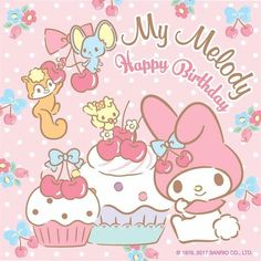 Sanrio: My Melody:) Sanrio Wallpaper, My Melody Wallpaper, Friends Wallpaper, Kawaii Wallpaper, Iphone Wallpaper, Baby 1st Birthday, Birthday Wishes, Birthday Cards, Happy Birthday