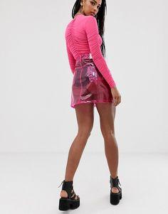 One Above Another – Minirock aus transparentem Vinyl Safari, Asos, Vinyl Style, Internet Explorer, Mode Online, Girls Pants, Cute Fashion, Latex, Mini Skirts
