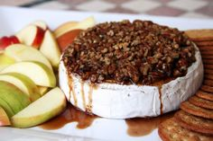 Pecan, Brown Sugar, and Kahlua Baked Brie