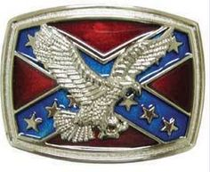Southern Sisters Designs - Rebel Flag Belt Buckle With Soaring Eagle, $16.00 (http://www.southernsistersdesigns.com/products/Rebel-Flag-Belt-Buckle-With-Soaring-Eagle.html)