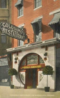 POSTCARD - CHICAGO - COLOSIMO'S RESTAURANT - 2128 WABASH - NICE VERSION - BEAUTIFUL PLACE BUT ONE FOR GANGSTERS - c1920