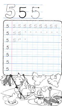 Apprends à écrire le chiffre 5
