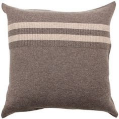 coyuchi cashmere/cotton pillow in hazelnut/toast