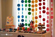Aniversário do casal de gêmeos Lucas e Bianca - Tema Paleta de cores: