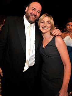 "James Gandolfini and Edie Falco, ""The Sopranos"" You will be missed!"