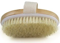 Dry Skin Body Brush & Improves Skin& Health And Beauty & Natural Bristle & Remove Dead Skin And Toxins, Cellulite Treatment , Improves Lymphatic Functions, Exfoliates, Stimulates Blood Circulation Cellulite Scrub, Reduce Cellulite, Cellulite Remedies, Retinol Creme, Essential Oils Detox, Foot Detox Soak, Foot Soak Recipe, Dry Brushing Skin, Products