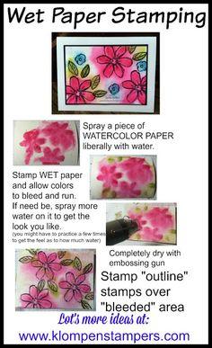 Klompen Stampers (Stampin' Up! Demonstrator Jackie Bolhuis): Wet Paper Stamping (Technique)