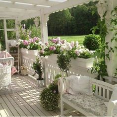 LIGHT FIXTURES AND FLOWER BOXES