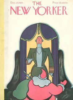 Rea Irvin : Cover art for The New Yorker 97 - 25 December 1926