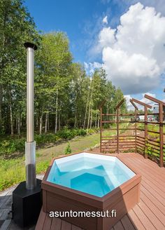 13a - Salvos valmissauna - Terassin kylpytynnyri | Asuntomessut