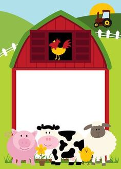 FARM ANIMALS AND BARN CLIP ART