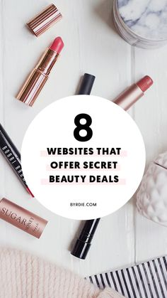 Beauty Addicts: These 7 Websites Offer Amazing Makeup Deals All Year Long Daily Beauty Tips, Beauty Secrets, Beauty Hacks, Discount Makeup Websites, Skin Tips, Skin Care Tips, Best Makeup Products, Beauty Products, Basic Makeup