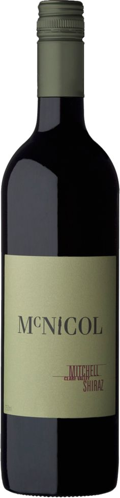 Mitchell 'Mcnicol' Shiraz 2006 Combines both richness and refinement From an excellent Clare Valley vintage Now entering its optimum drinking period, this wine is elegant and classy. Wine Australia, Clare Valley, Wines, Period, Drinking, Classy, The Unit, Elegant, Bottle