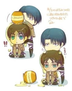 Rivaille (Levi) x Eren Jaeger There's something about this...