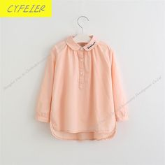 Cheap blouse fashion, Buy Quality blouse blouse directly from China blouse girl Suppliers: New arrival children's shirt Girl Fashion Blouse Collar Embroidery long-sleeve Blouse Hoodie Sweatshirts, Hoodies, Girls Blouse, Cheap Blouses, Blouse Styles, Shirts For Girls, Girl Fashion, Bell Sleeve Top, Embroidery