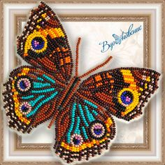 Bead embroidery kit, butterfly embroidery kit, needlepoint kit, hand embroidery, butterfly beading p Bead Embroidery Tutorial, Diy Embroidery Kit, Embroidery Materials, Bead Embroidery Patterns, Butterfly Embroidery, Paper Embroidery, Butterfly Crafts, Beaded Embroidery, Beading Patterns