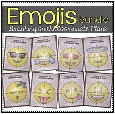 EMOJIS (Graphing on the Coordinate Plane/ Mystery Pictures) by Bobby's TPT