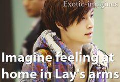 Lay X3 Exo Imagines, Cute Imagines, Luhan, Lay Exo, Kpop, Feelings, Memes, Meme