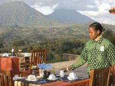 As you enjoy your breakfast at the lodge, you will enjoy the beautiful scenery of the volcanoes.