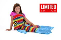 Snuggie Tails Rainbow Fish Blanket For Kids