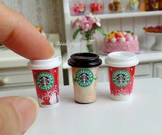 1:6 Scale Dollhouse Miniature Food Cafe Coffee Take by BEADSPAGE