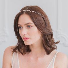 Pearl wedding hair vine in silver - 'Skye'