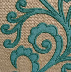 Acanthus custom embroidered panels from Victoria Bain at www.VictoriaBain.co.uk