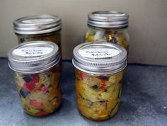 Zucchini Relish and a D.Y Headboard Zucchini Relish, Weekend Projects, Canning Recipes, Pickles, Mason Jars, Diy, Bricolage, Mason Jar, Do It Yourself