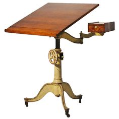 Antique Cast Iron Drafting Table | 1stdibs.com