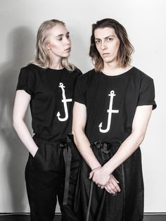 UNISEX fashion, LAURIJARVINENSTUDIO Eco Friendly Fashion, Unisex Fashion, Black Fabric, That Look, T Shirts For Women, Unique, Collection, Tops, Style