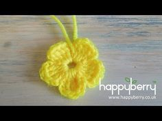 Happy Berry Crochet: How To Crochet a Simple Flower for Absolute Beginners