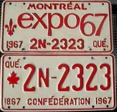 Montreal Expo 67 License Plate   by Suko's License Plates