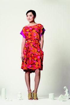 Emma dress, Magic Peony Print . via The Cools